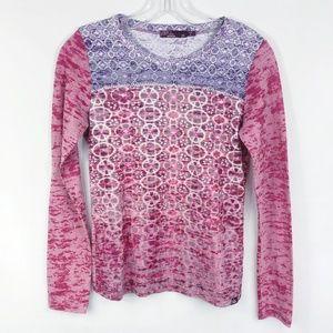 Prana | Lottie Long Sleeve Shirt in Pink & Purple